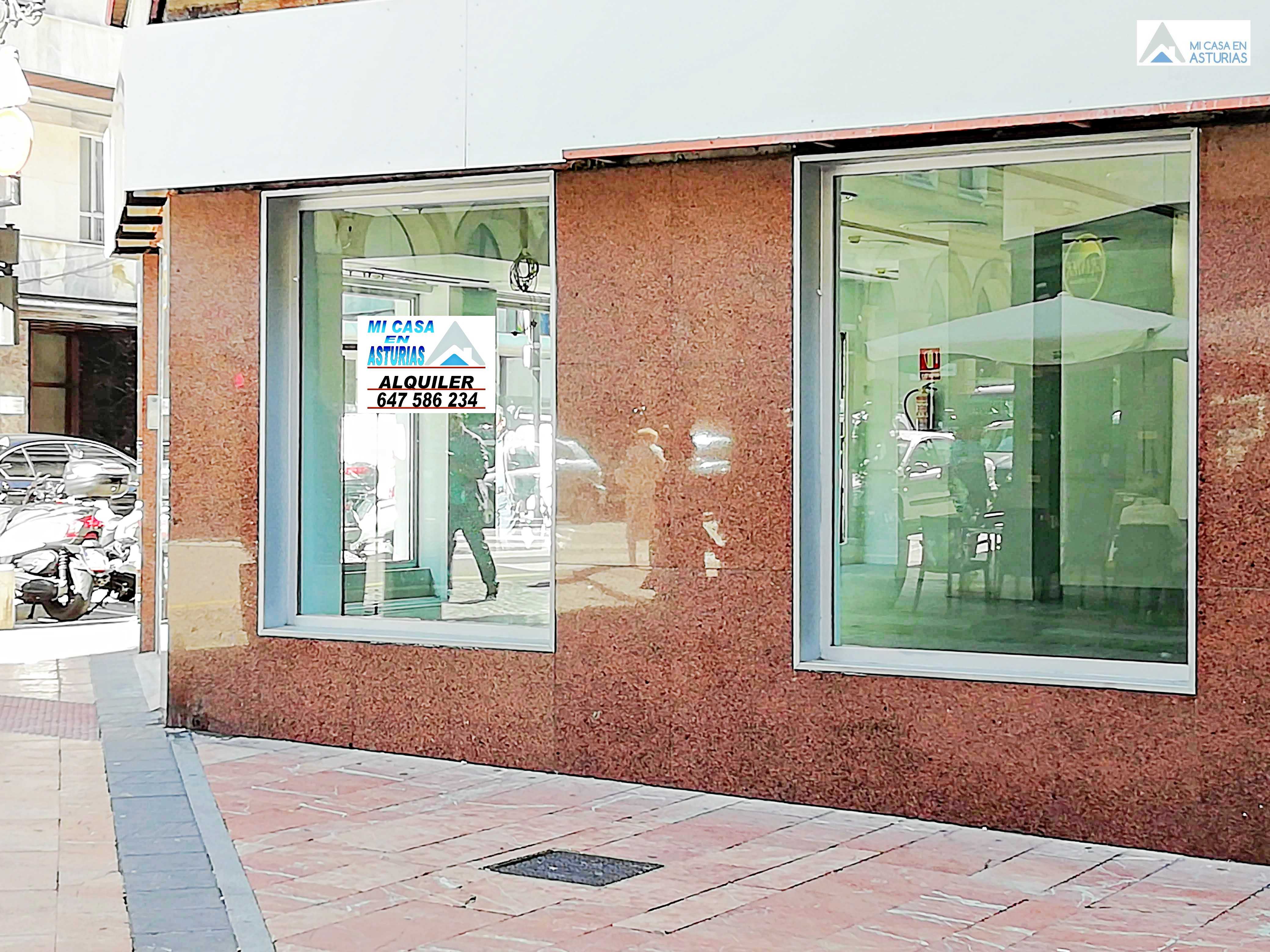 Impresionante local comercial en alquiler en el centro de Oviedo.