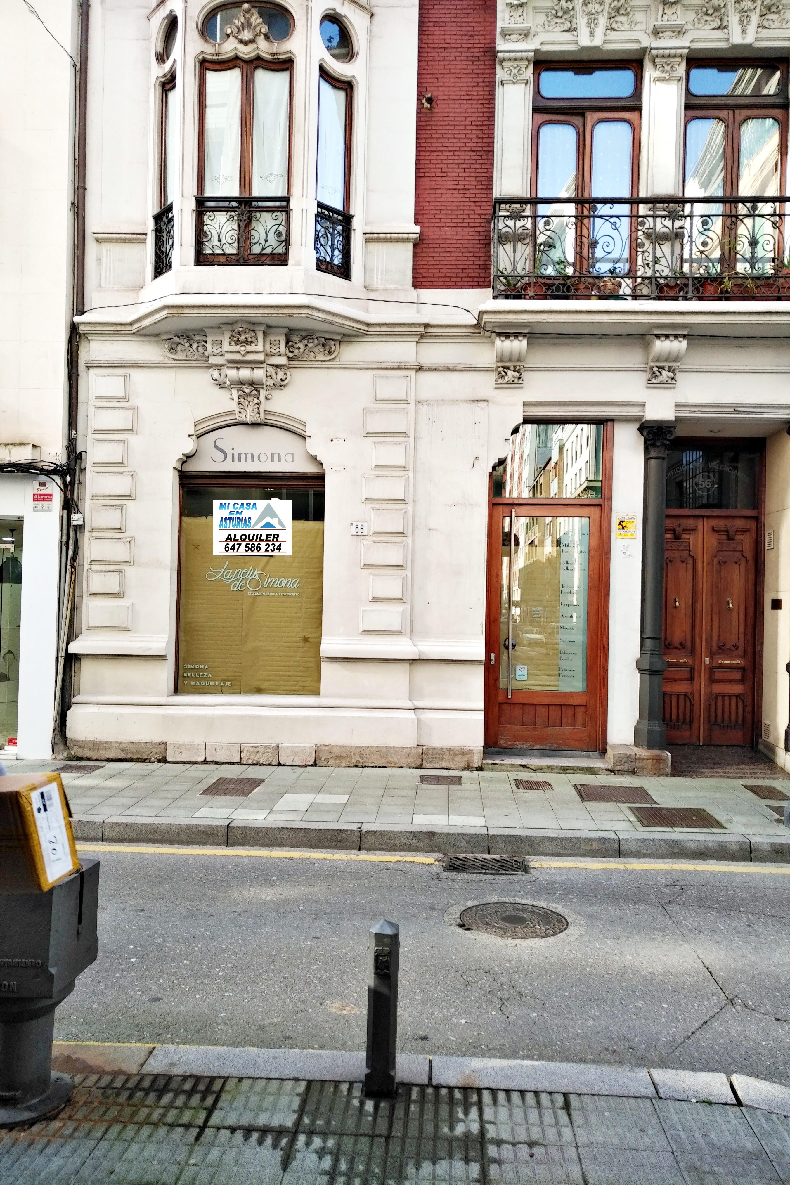 Alquiler de local comercial en calle Cabrales, Gijón.